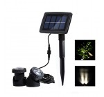 Solar Pond Lights, with 2 Submersible Lamps Underwater Lights for Garden, Fountain, Outdoor(White) Reviews