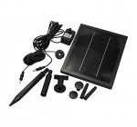 250 LPH Solar Powered Water Feature Fountain Pond Pump with Battery Back Up and LED Light