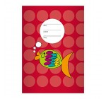 Nice Goldfish A4Primary School Exercise Books on Spots on Yellow Contrast 1, red Reviews