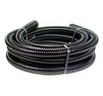 Yamitsu Black Corrugated Flexible Hose Fish Garden Pond Filter Pump Marine Flexi Pipe 5m and 20mm Diameter